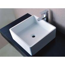 Cuarto de baño sanitario Cuarto de la encimera Cuenca de lavado de piedra blanca (BS-8316)