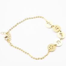 Bracelet en acier inoxydable plaqué or