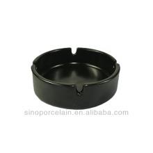 Black Matt-glazed Round Ceramic Ashtray for BS140122E