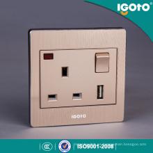 Británico estándar BS 1gang USB cargador 13A Switch socket