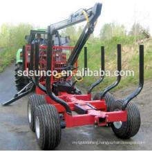log trailer with crane ZM3004 sale for German
