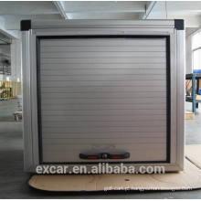 Caixa de armazenamento de alumínio com porta rooling para carrinho de golfe