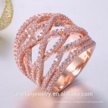 Zircone cubique plaqué platine sans plomb faible cadmium mariée bijoux de mariage