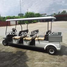 Carro de golfe elétrico barato de 48V 6 pessoas com certificação pequena do CE da caixa da carga
