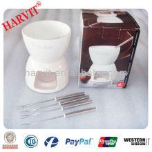 ceramic chocolate fondue set