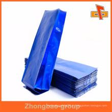 Selo térmico cor azul impressão personalizado gusset lateral saco vazio com alumínio para café ou chá