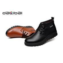 Cheap $ 9 boa qualidade 2015 inverno morno alto corte de pelúcia homens de couro sapatos