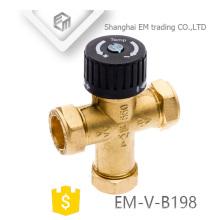 Válvula termostática de bronze do radiador EM-V-B198 de 3 maneiras para o controle de temperatura da água