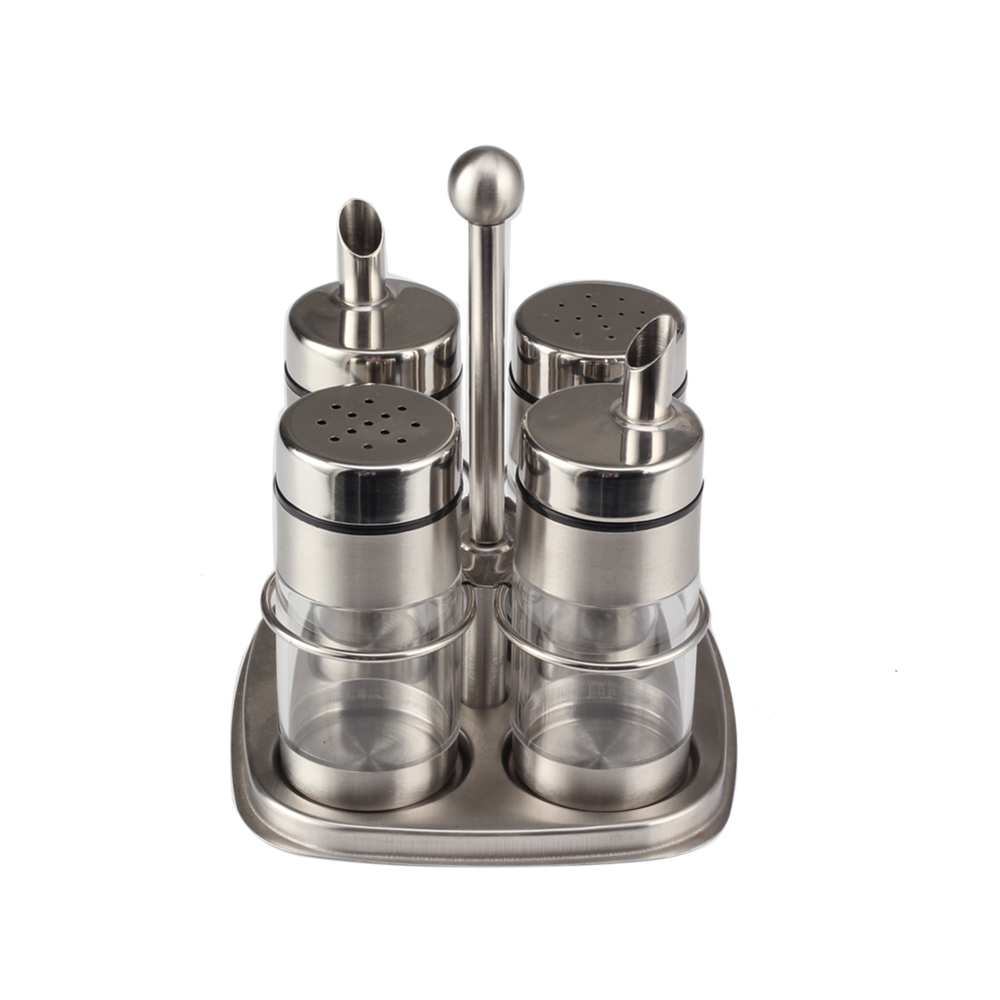 Bbq Professional Acrylic Oil Kettle And Salt Shaker Set