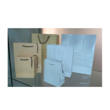 Shining Shopping Bags in White and Beige (PBS-SP-W /PBS-SP-B)