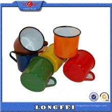 Fornecedor da China Vários cor esmalte caneca