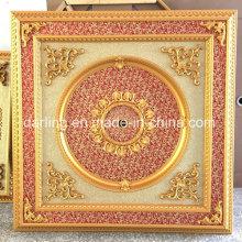 Accents architecturaux - Plafond artistique décoratif de brocolis en bourgogne et doré