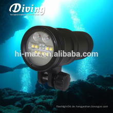 Wiederaufladbare Led Taschenlampe Scuba Photographic Lampe Portable Video Licht