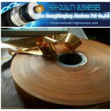 Épaisseur de cuivre 35 microns Mylar Foil Copper Mylar Tape Cable Shield Laminate Copper Foil