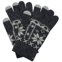 Fashion Rabbit Fur Knitted Touch Screen Gloves (YKY5458)