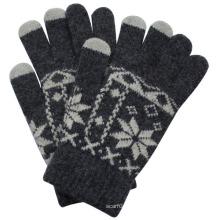 Moda luvas de tela de toque de pele de coelho de malha (yky5458)