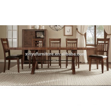 Vintage style wooden dining table and chair set XYN1496