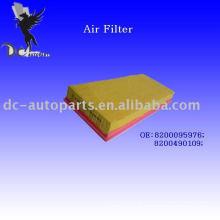 Filtro de ar plissado preliminar do painel