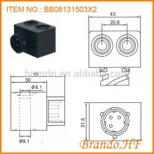 OE 4421977102 Bobina de solenoide de doble agujero de CC 12V Válvula de sistema de freno de aire de automóvil