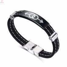 2017 neue schwarze Herren Homosexuell Paar Schmuck Silikon Armband