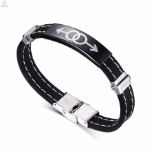 2017 new black mens gay couple jewelry silicone bracelet