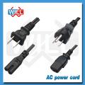 7/12 / 15A Cable de alimentación de corriente alterna japonés de 125 V