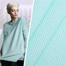 Tecido de tecido para pijamas femininos em malha jacquard de sarja bolha