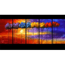 Pintura al óleo decorativa hecha a mano del paisaje