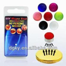 Imán de imitación UV magna perforación de color, perforación del labio magnético