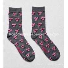 Fashion Custom Wome N Flower Design Socks