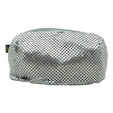 SILVER METAL MAKEUP BAG-0