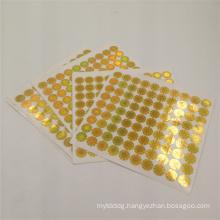 gold laser printing custom logo via hologram sticker label