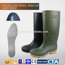 JX-AL966 CE China Eco-friendly plástico impermeável baratos botas de chuva e sapatos de segurança
