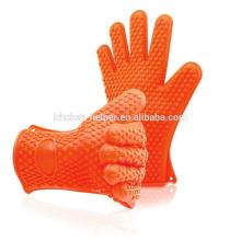 Barbacoa de encargo al por mayor de la barbacoa del silicón que asa a la parilla que cocina los guantes / guante del Bbq del horno de la parrilla del silicón /