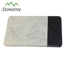 White restaurant dinner plate marble cheese board