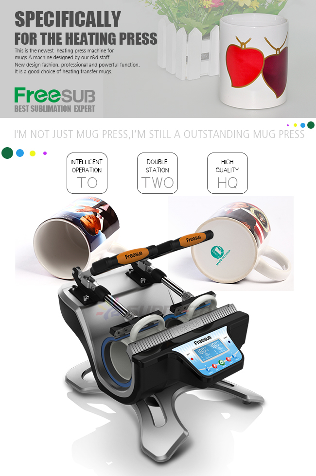 FREESUB Sublimation Custom Coffee Cups Heat Press Machine