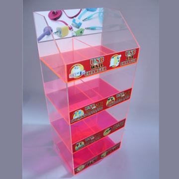 Caja de colores opcional Acrylic Mobile Accessories Display