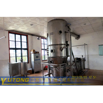 Fluid bed fertilizer granulator in chemical industry