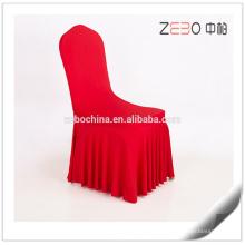 Kundenspezifische Spandex-Gewebe-preiswerte Stuhl-Abdeckungen für Hochzeit mit Rüschen