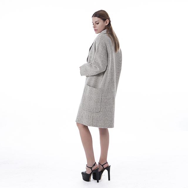 Double-breasted Beige Cashmere Overcoat