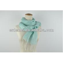 Nice design plain scarf with tassel