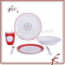 Круглая фарфоровая посуда набор тарелок для дома