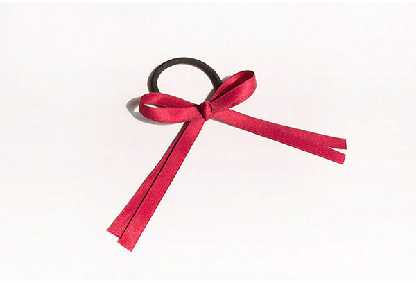 Retro Slik Ribbon Hair Ornament