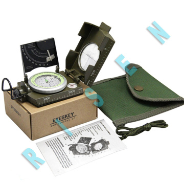 Großhandel China Hersteller US Military Lensatic Sighting Compass mit Gradienter Professional Military Sighting Compa