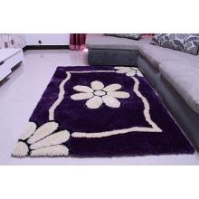 Einfacher lila Seidenteppich