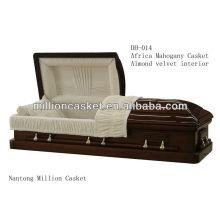 Produits funéraires cercueil en acajou massif