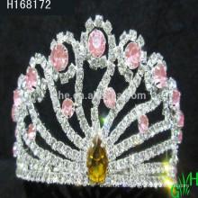 Großhandel glänzende elegante Strass Königin Prinzessin Tiara Krone