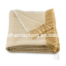 Venta por mayor de algodón tiro con flequillo/flecos manta de algodón