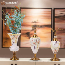 Keramik und Porzellan Glas Vasen Hochzeit Kristall Kandelaber auf Verkauf, dekorative hohe Hochzeit Kandelaber Herzstück zum Verkauf