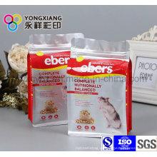 Tamaño personalizado de alimentos para mascotas embalaje con Ziplock